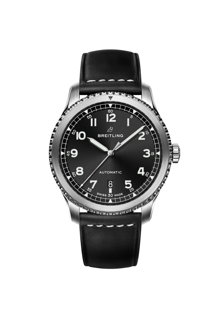 Image 1 - Navitimer 8 Automatic with black dial and black leather  strap.png
